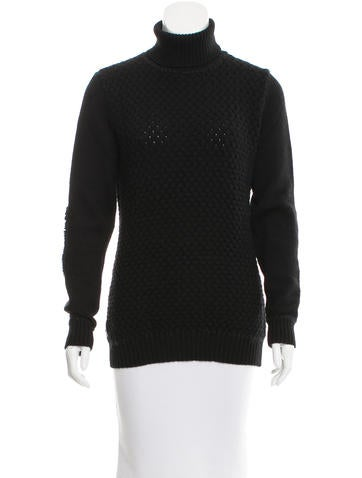 Prada Sport Texture-Accented Turtleneck Sweater None