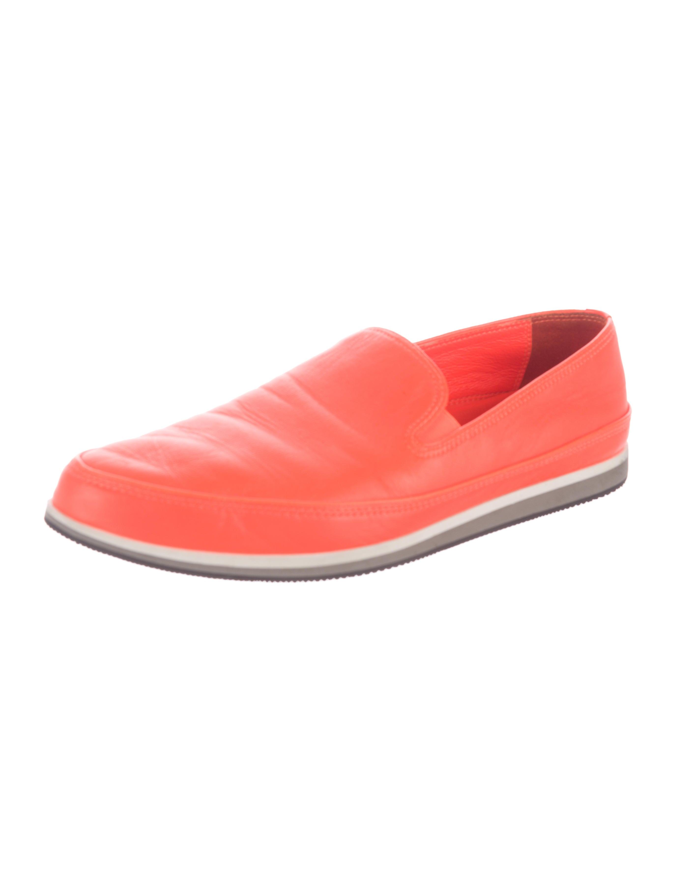 prada sport leather slip on sneakers shoes wpr39901
