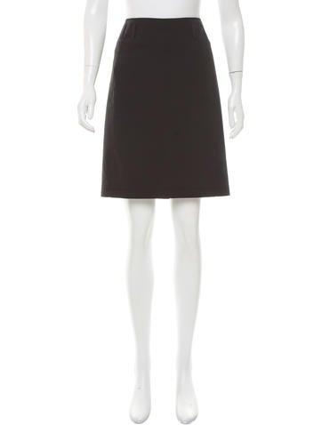 Prada Sport Woven Knee-Length Skirt None