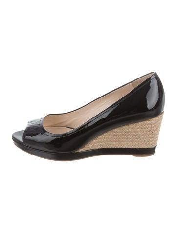 prada sport peep toe espadrille wedges shoes wpr40140