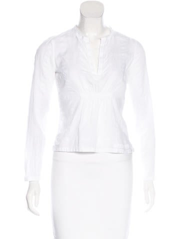 Prada Sport Textured Long Sleeve Top None