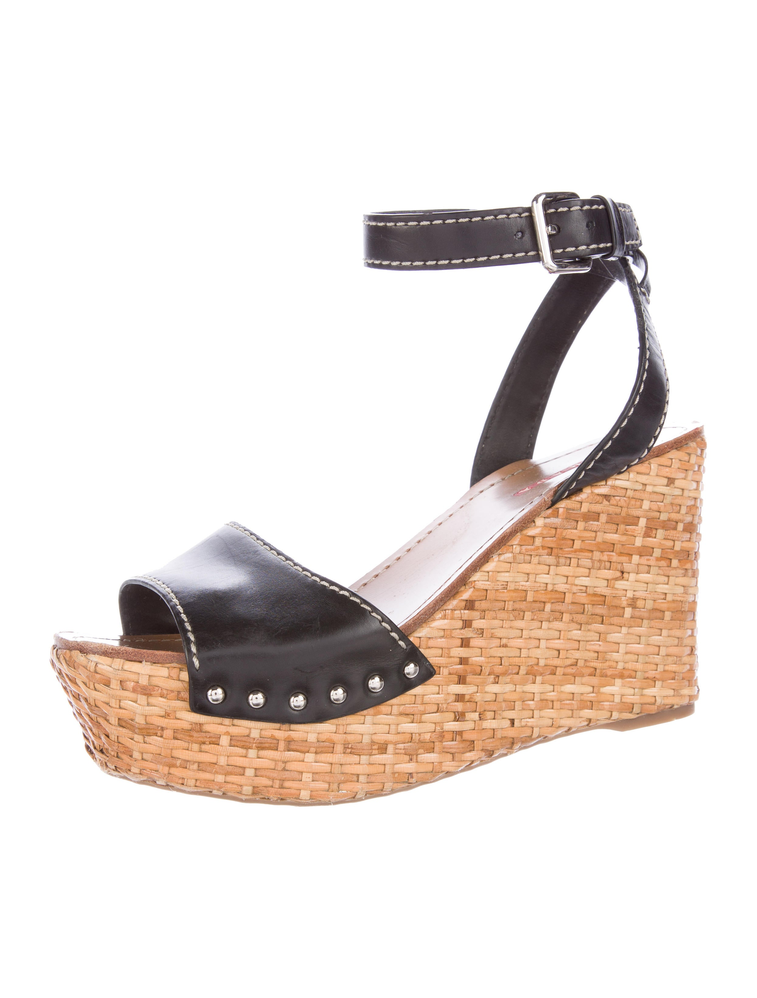 prada sport platform wedge sandals shoes wpr40220