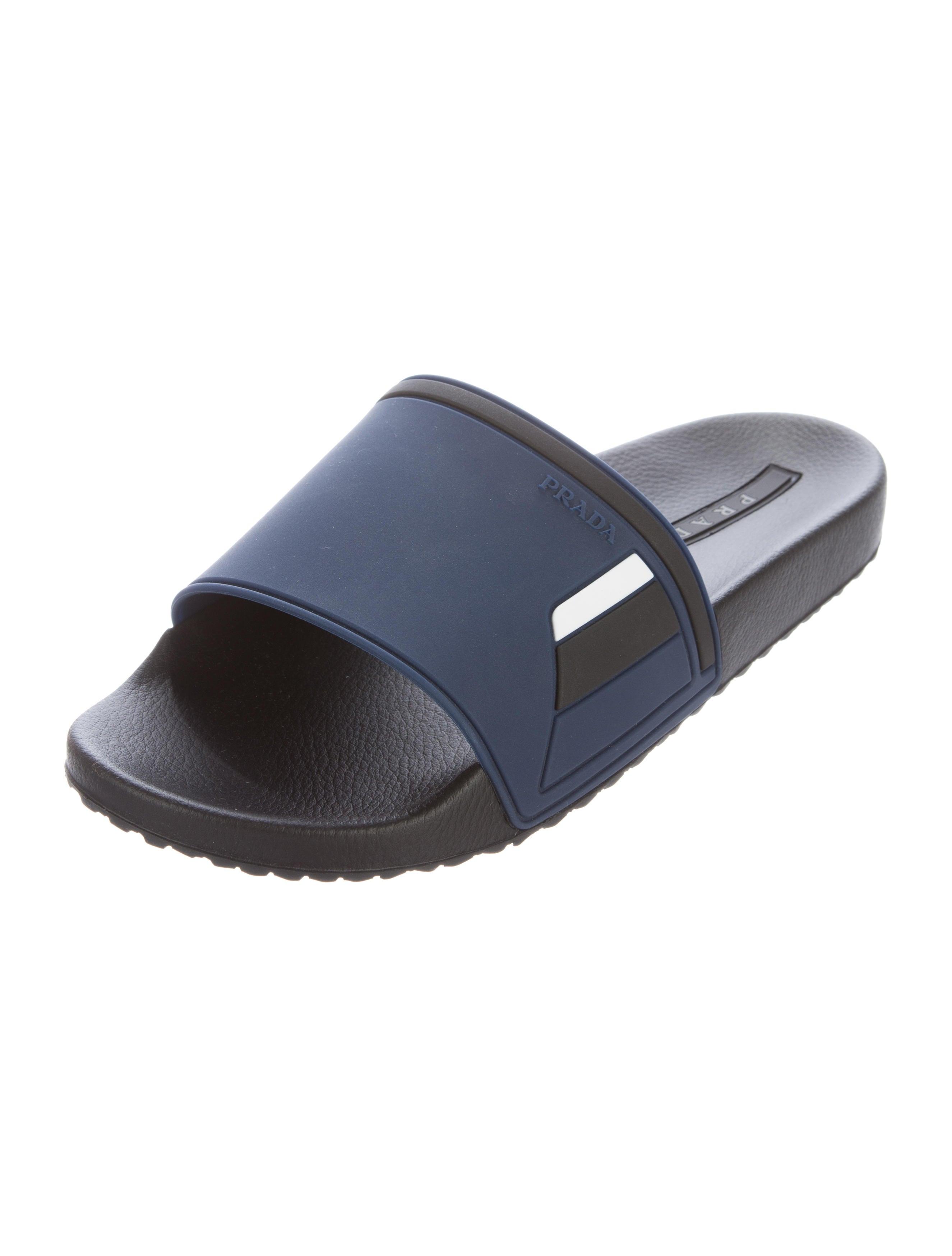 Prada Sport Logo Slide Sandals outlet get to buy professional cheap price sale many kinds of sale huge surprise AFGIlm