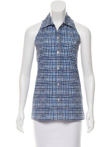 Prada Sport Sleeveless Button-Up Top None