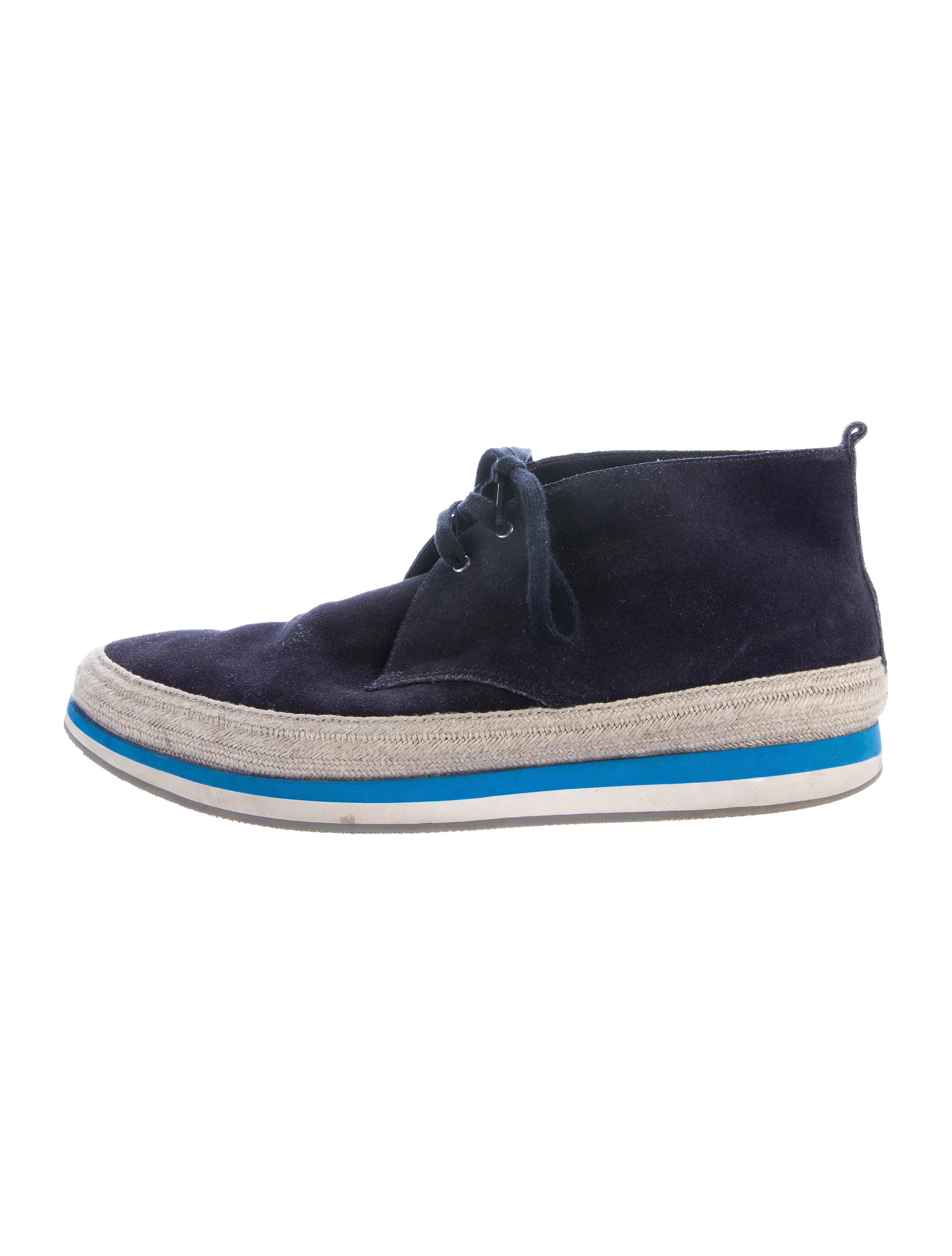 prada sport suede chukka boots shoes wpr40494 the