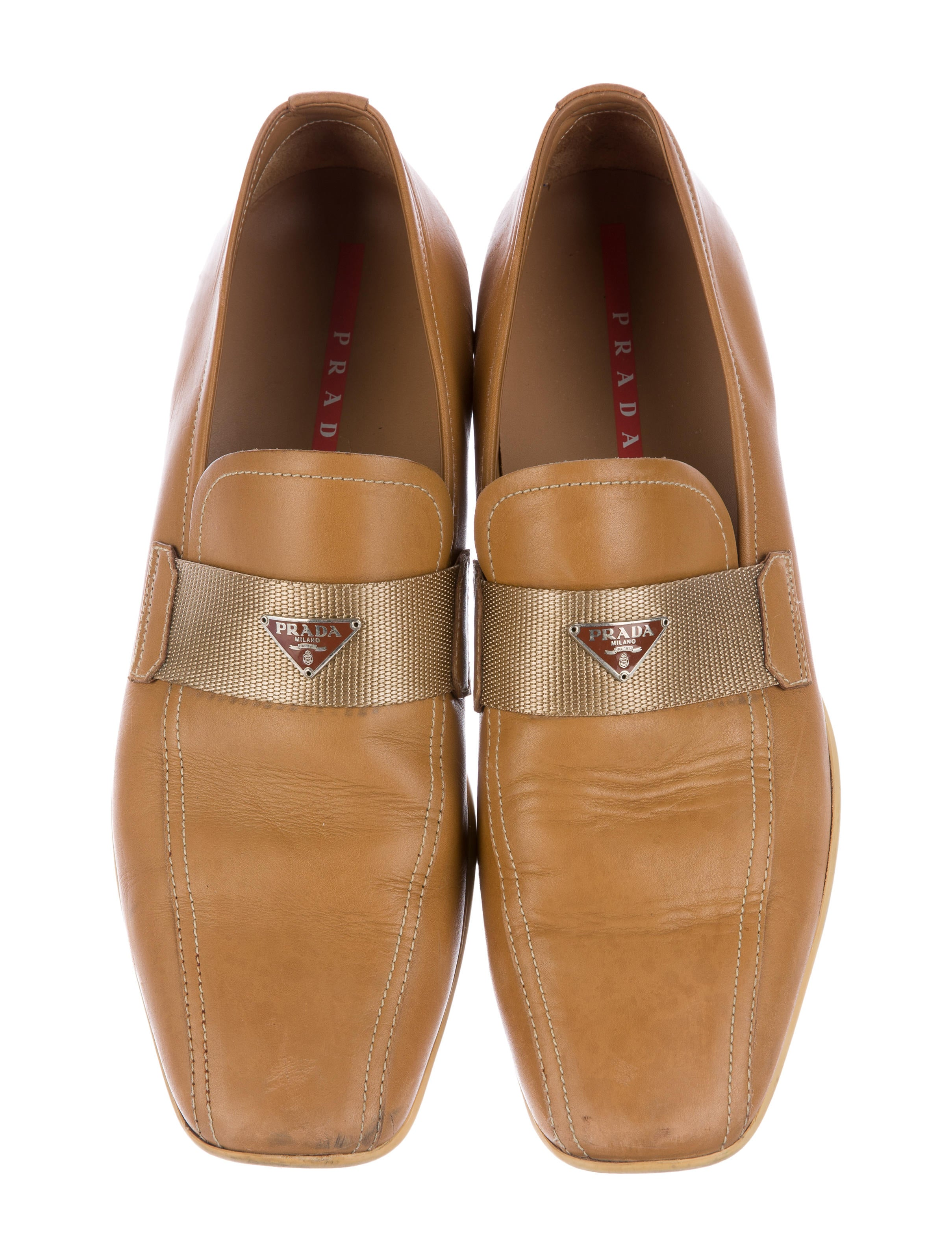 prada sport leather dress loafers shoes wpr40795 the