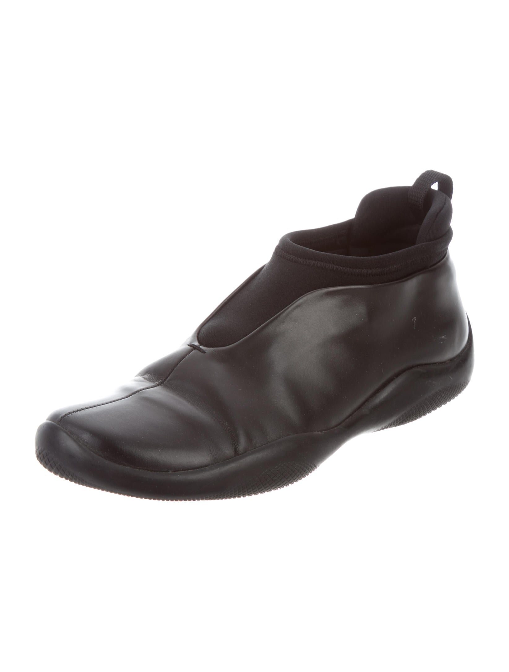 prada sport leather slip on sneakers shoes wpr40996