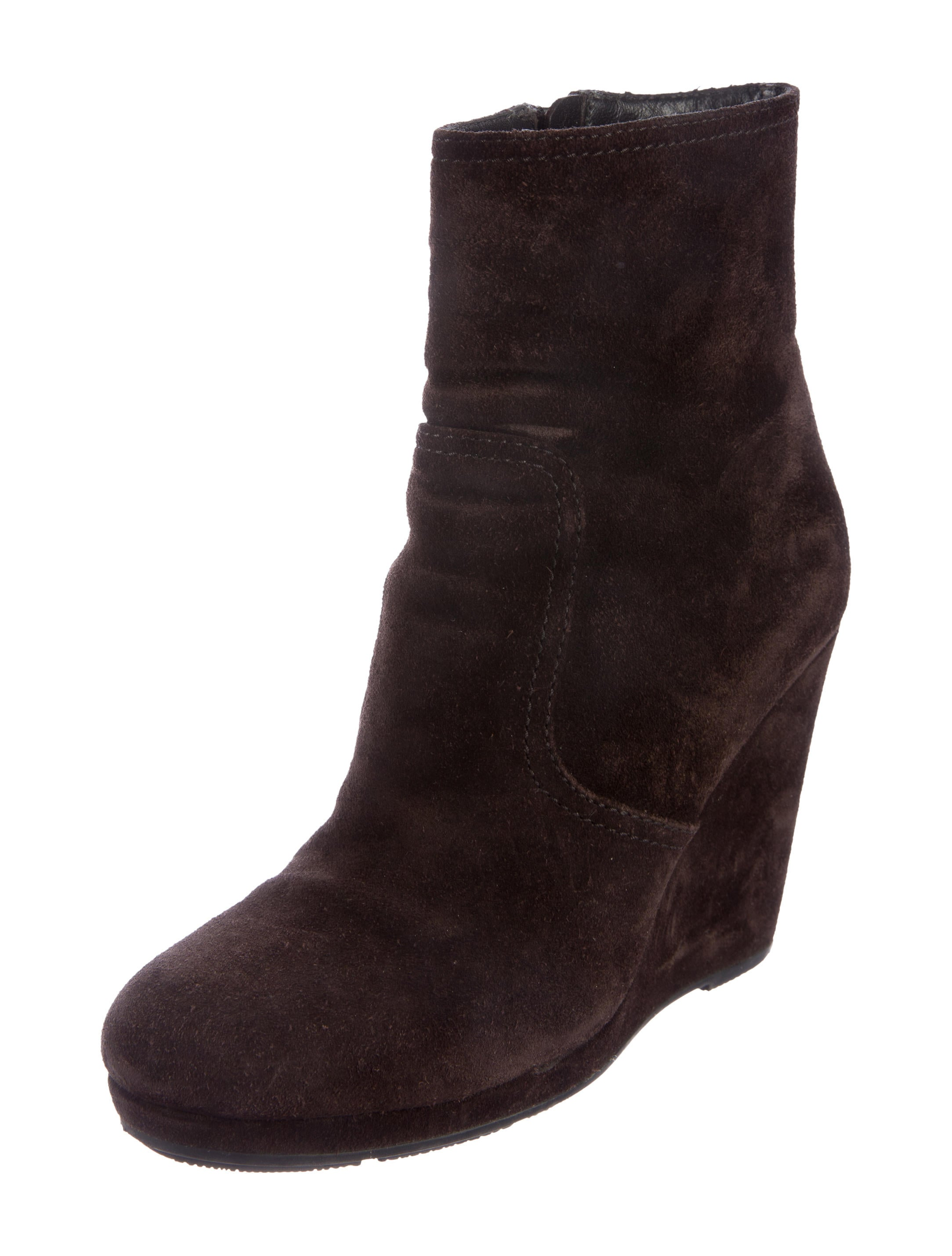 prada sport wedge ankle boots shoes wpr41159 the