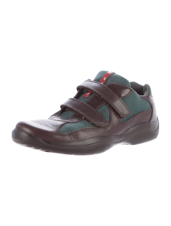 prada sport leather low top sneakers shoes wpr41451