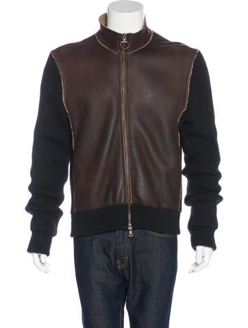 Prada Sport Leather-Paneled Wool Jacket None
