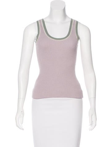 Prada Sport Rib Knit Sleeveless Top None