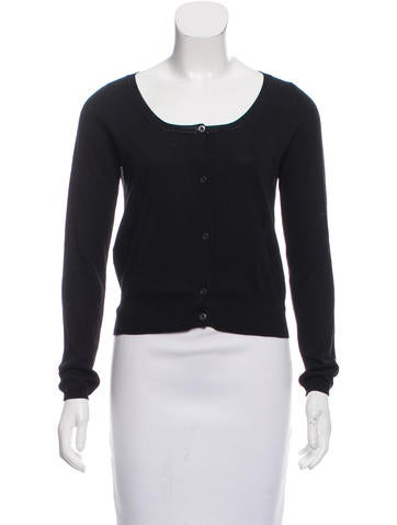 Prada Sport Cropped Rib Knit Cardigan None