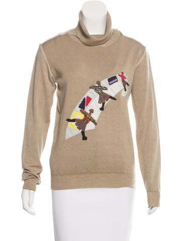 Prada Sport Wool Appliqué-Accented Top None