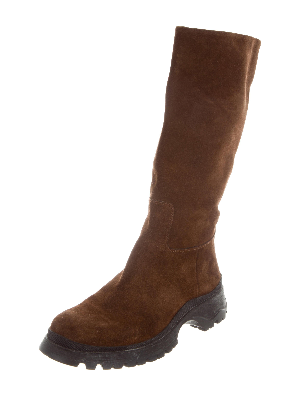 prada sport mid calf suede boots shoes wpr42719 the