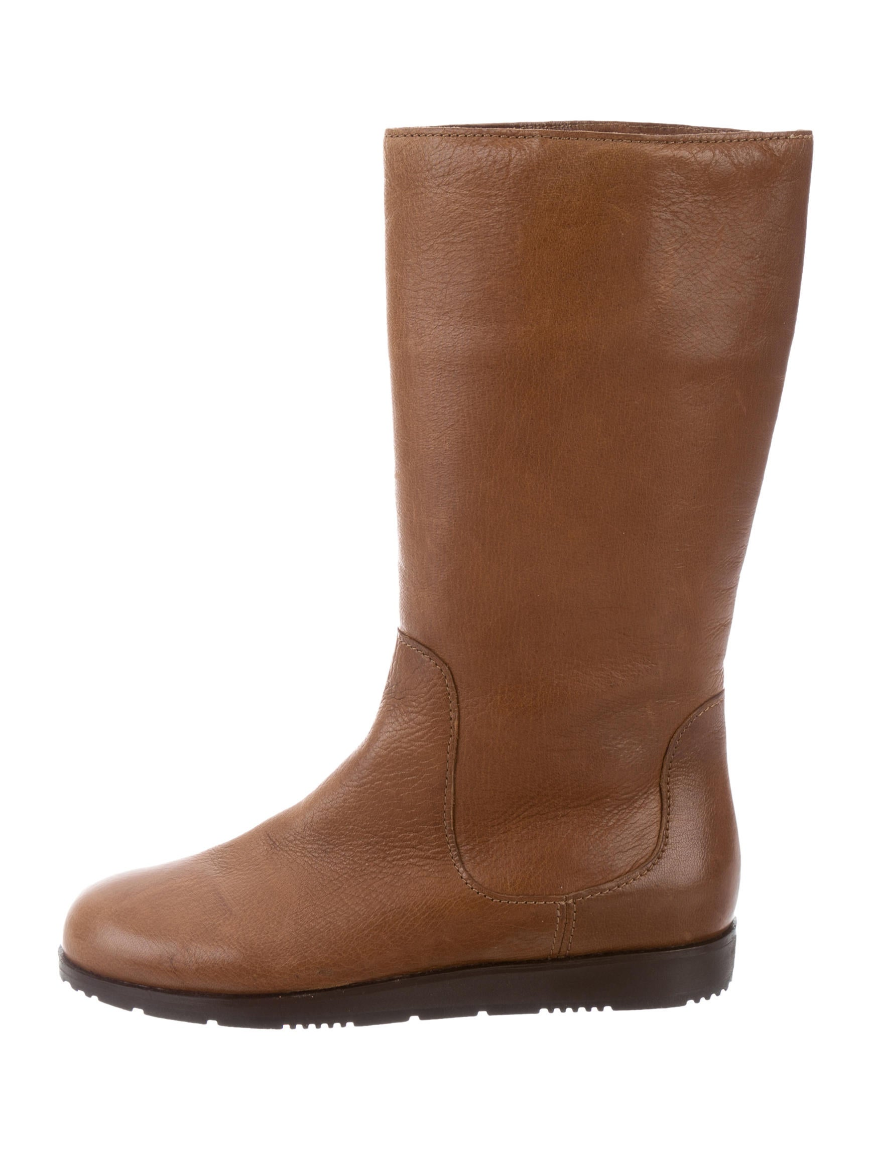 prada sport leather mid calf boots shoes wpr42790
