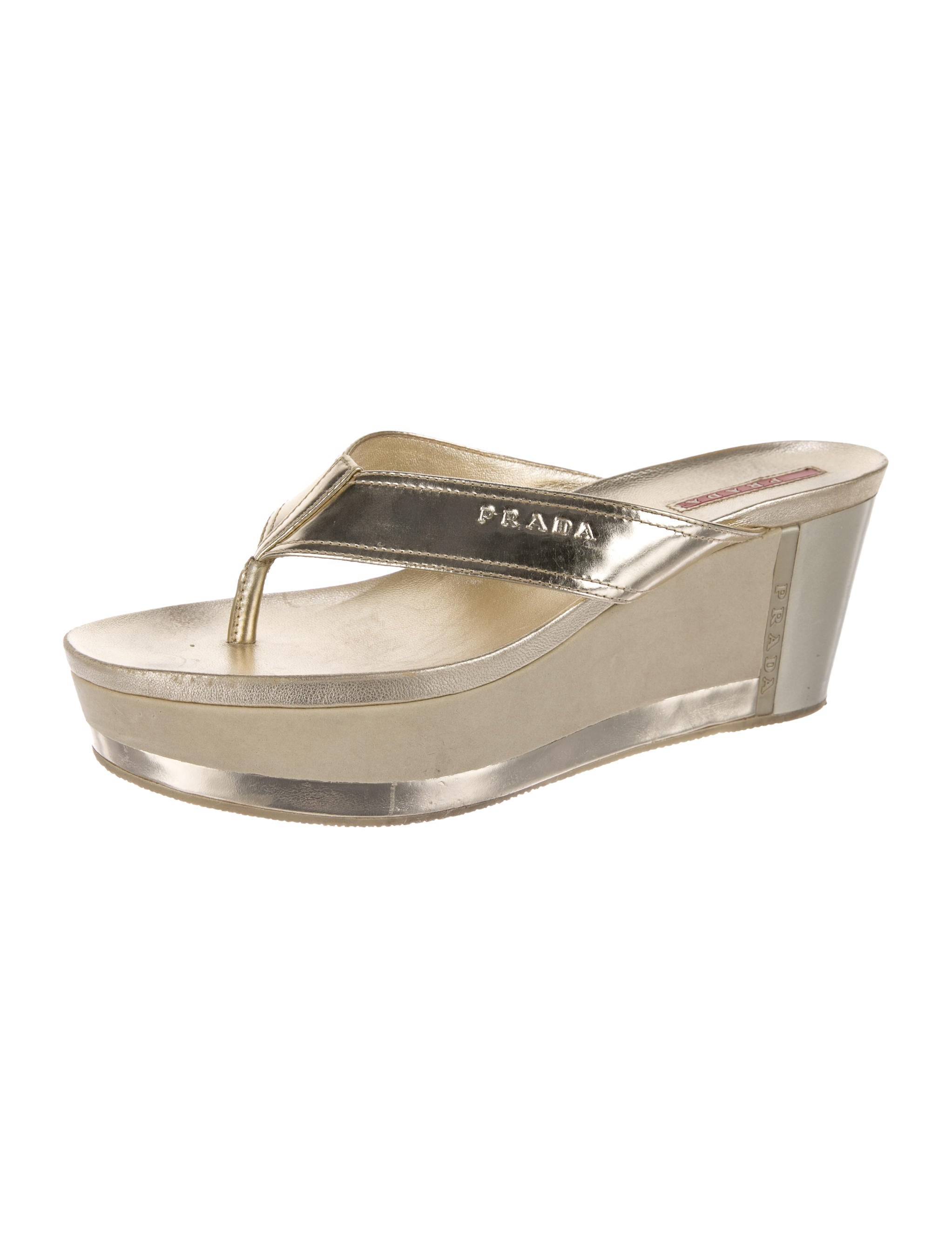 prada sport metallic platform sandals shoes wpr43249