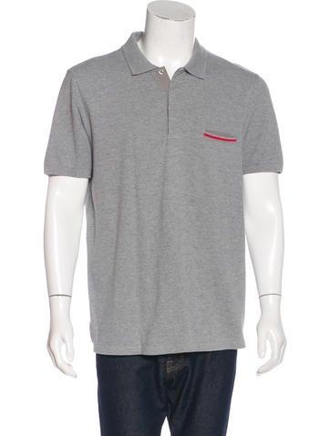 Prada Sport Piqué Polo Shirt None