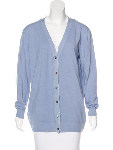 Prada Sport Wool V-Neck Cardigan None
