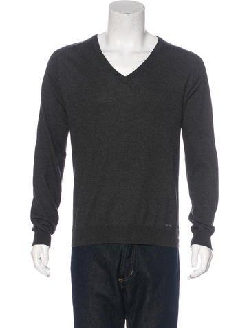 Prada Sport Cashmere-Blend V-Neck Sweater None