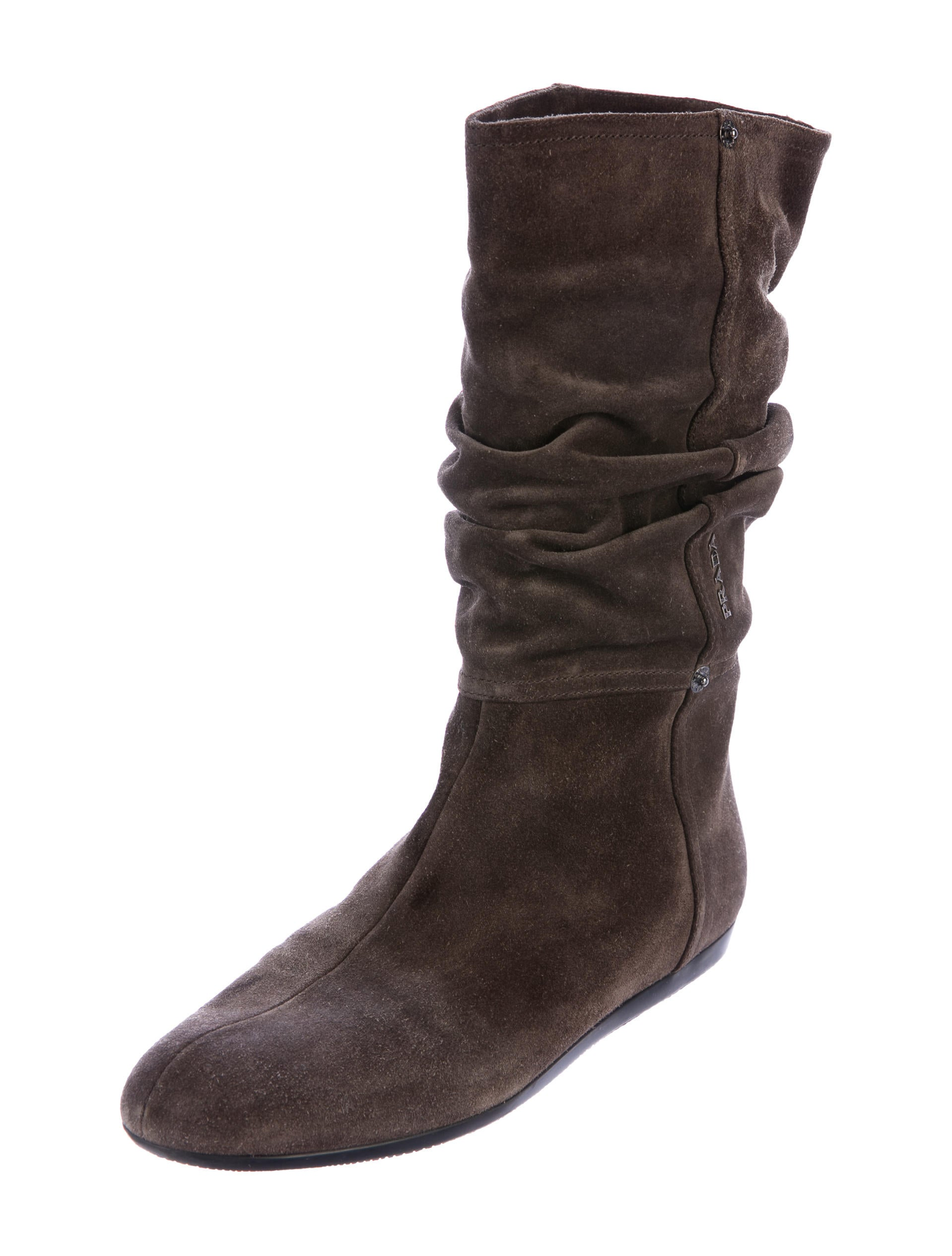 prada sport suede slouch mid calf boots shoes wpr43907