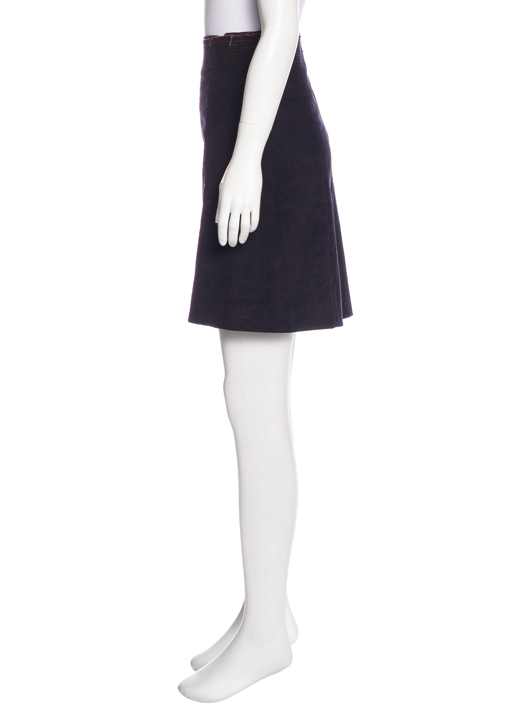 prada sport corduroy knee length skirt clothing