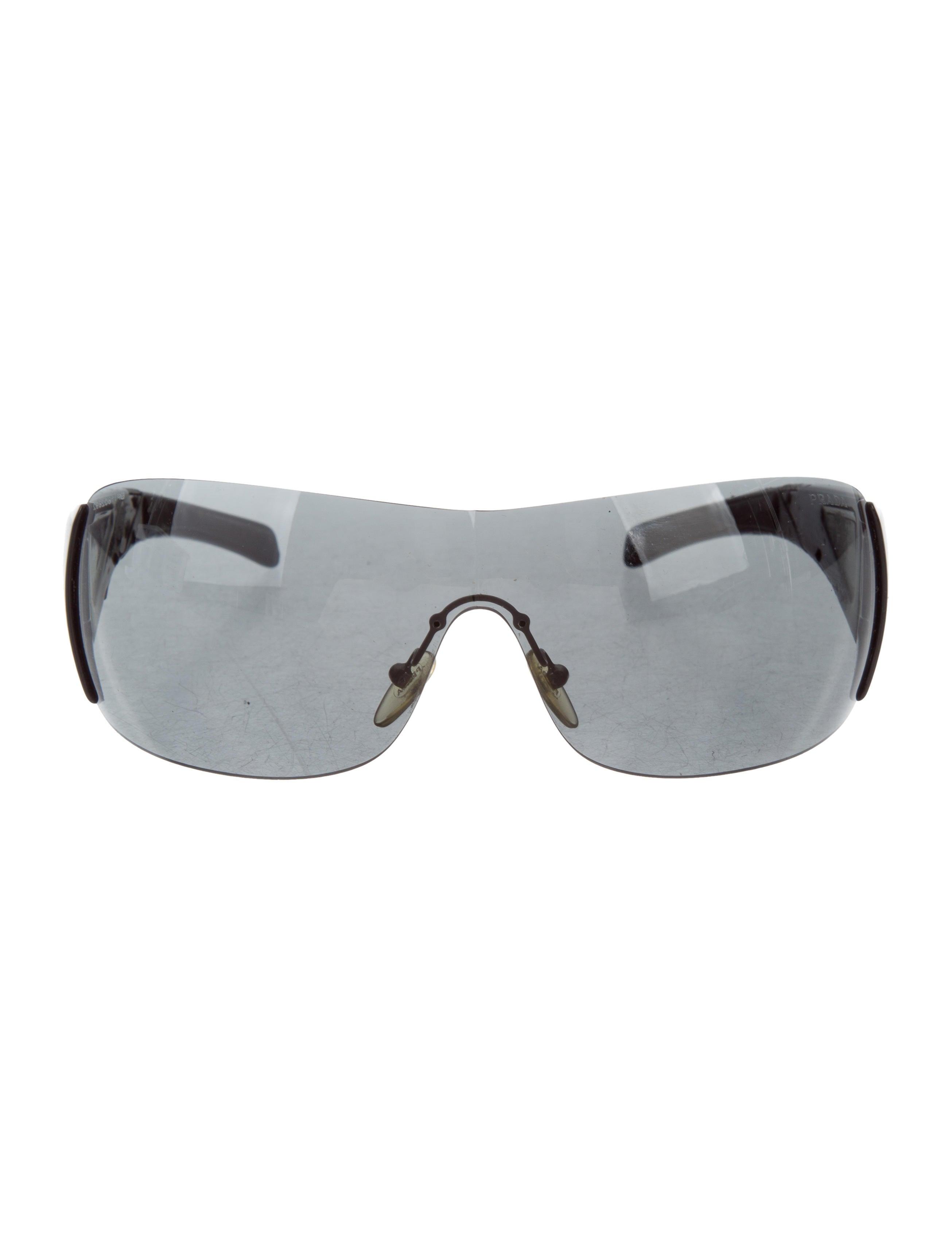 95531edb7ca sweden prada rimless shield sunglasses a5a59 aeff7