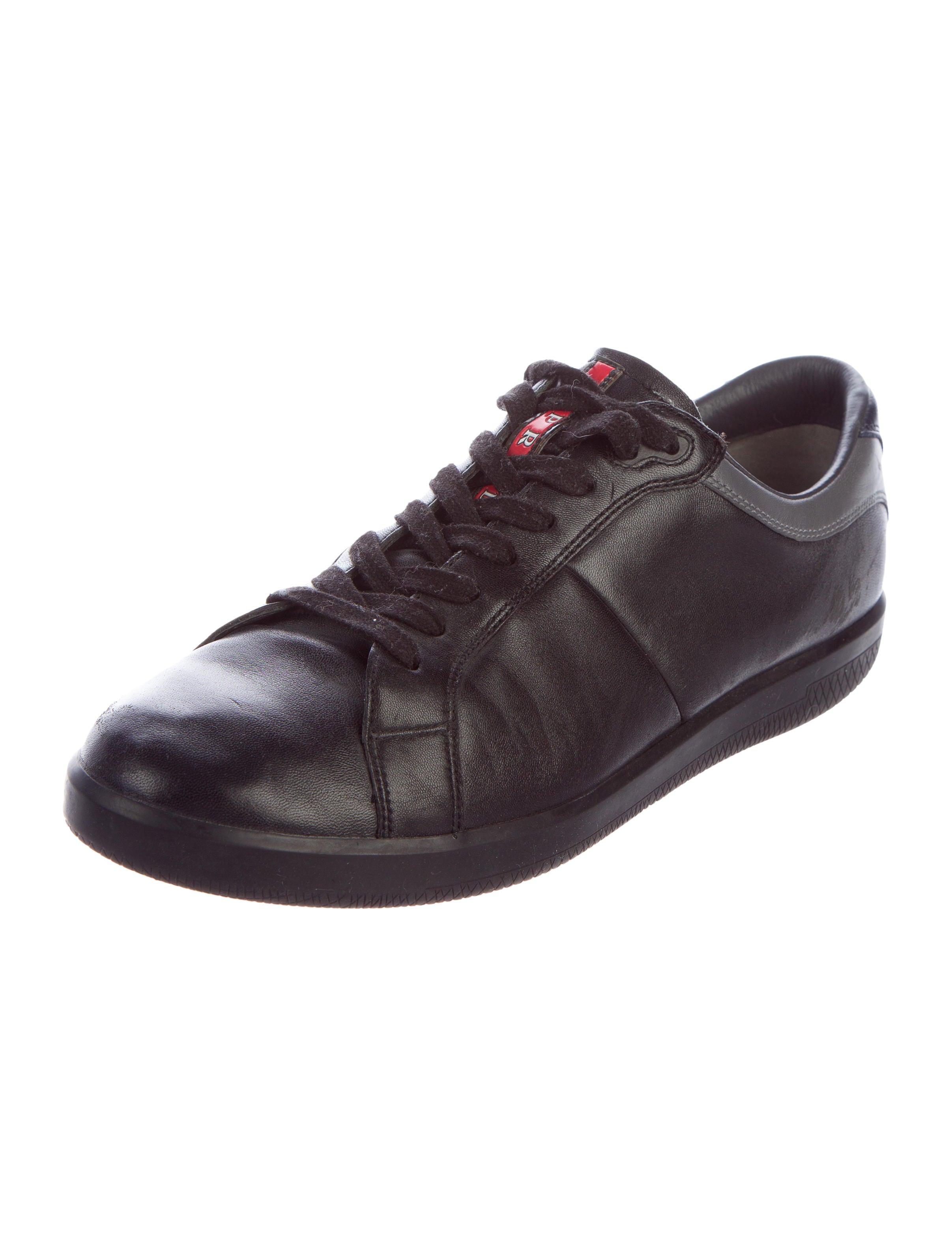 prada sport leather low top sneakers shoes wpr43982