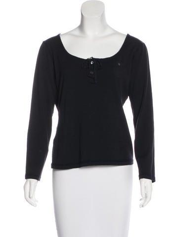 Prada Sport Wool Long Sleeve Top None