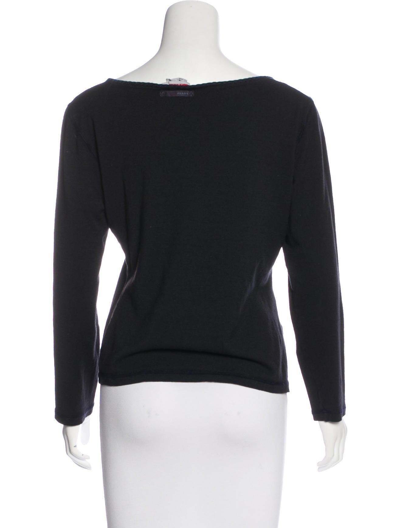 Prada sport wool long sleeve top clothing wpr43994 for Best wool shirt jackets