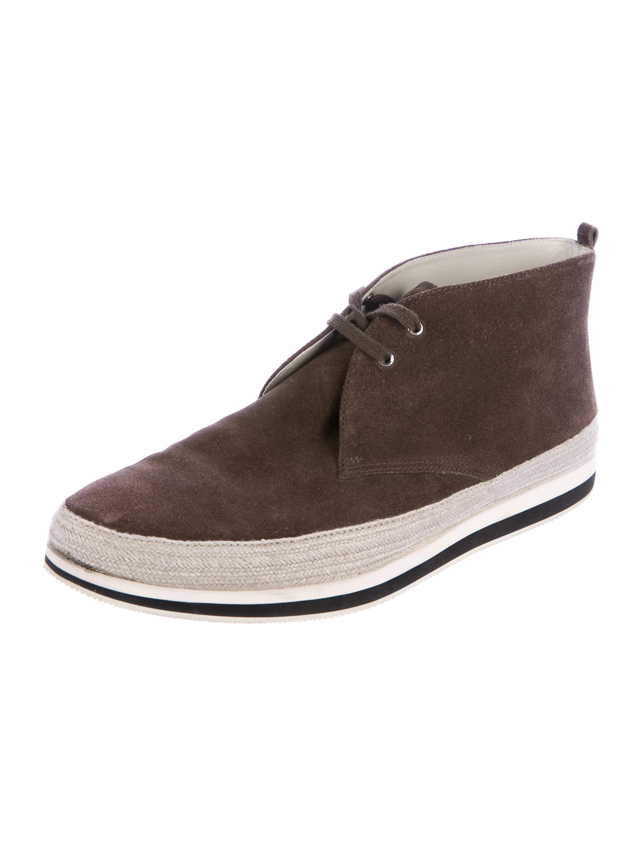 prada sport suede chukka boots shoes wpr45120 the