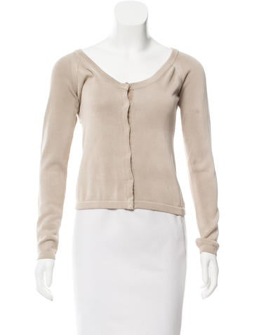 Prada Sport Long Sleeve Knit Cardigan None