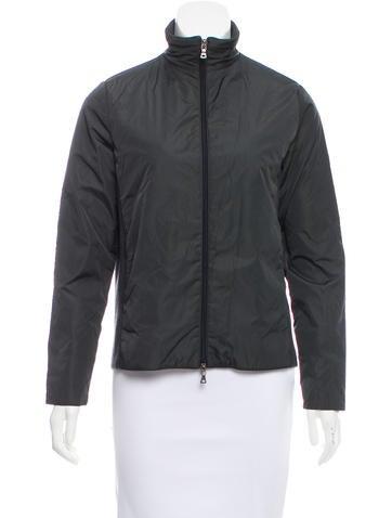 Prada Sport Rib Knit-Accented Casual Jacket None