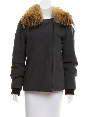 Prada Sport Fur-Trimmed Zip-Up Jacket None
