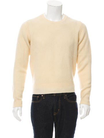 Prada Sport Leather-Trimmed Crew Neck Sweater None