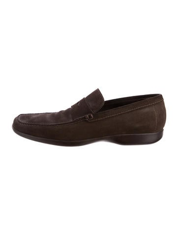 Prada Sport Suede Round-Toe Loafers cheap footlocker finishline discount clearance U2r8OXVESL
