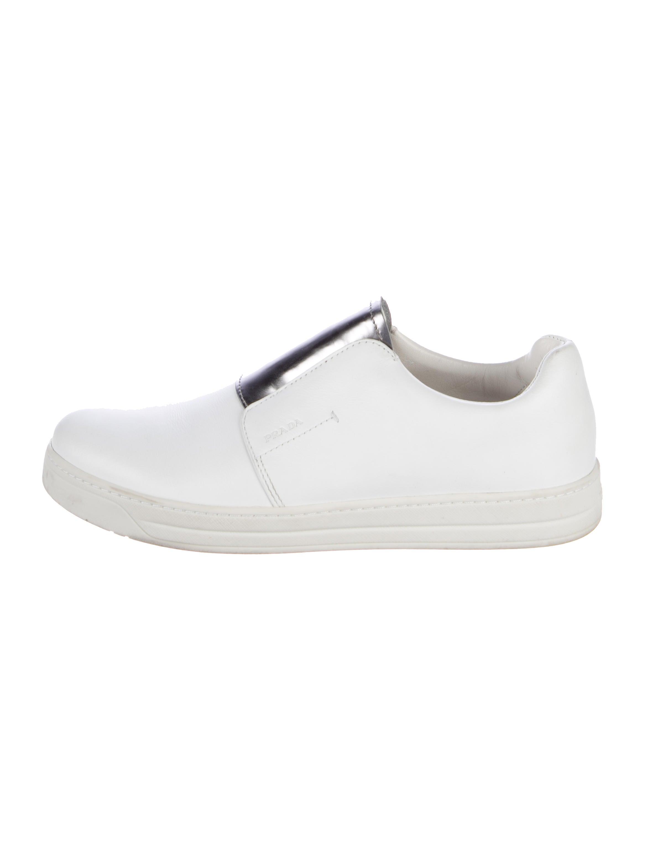 recommend sale online reliable sale online Prada Sport Round-Toe Slip-On Sneakers U57jjF