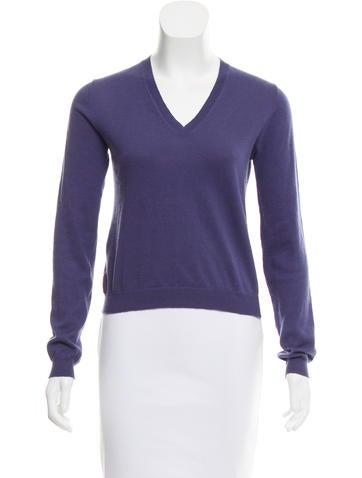 Prada Sport V-Neck Long Sleeve Sweater None