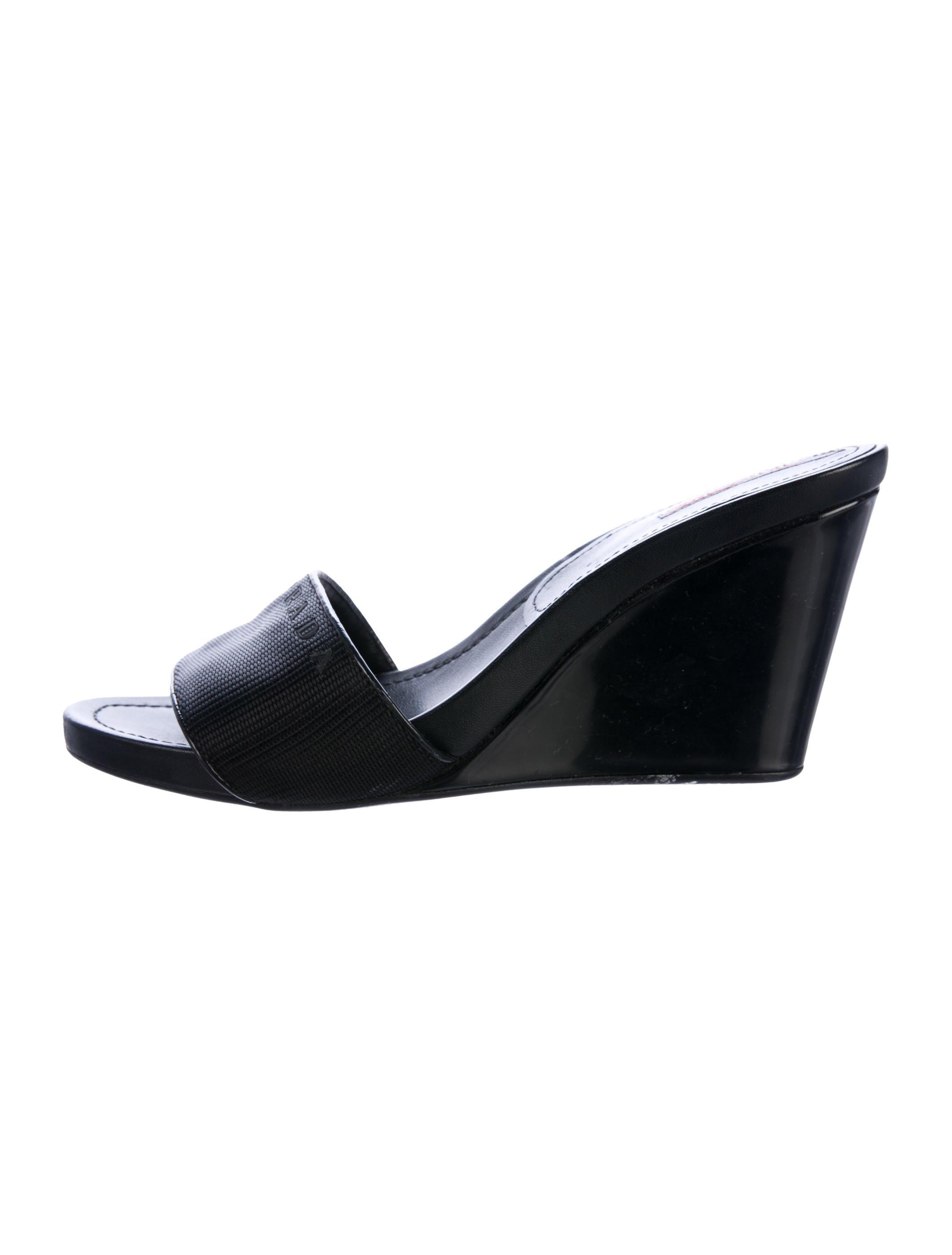 1f6ded318ef4 Prada Sport Logo Wedge Sandals - Shoes - WPR46334
