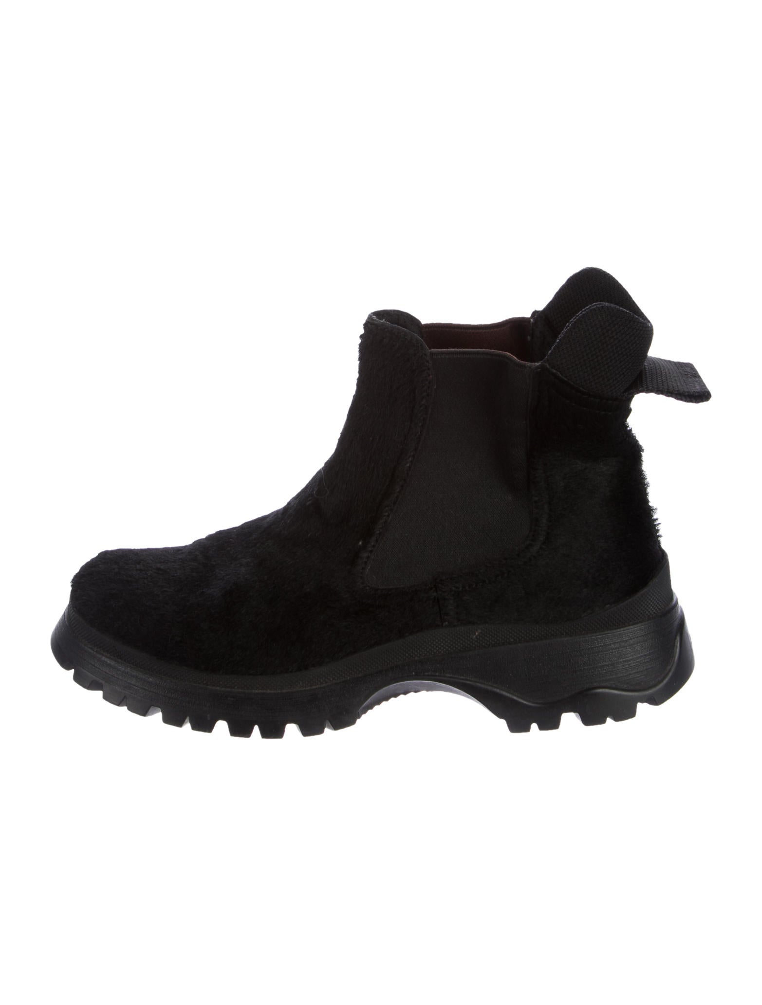 outlet free shipping outlet best wholesale Prada Sport Ponyhair Round-Toe Ankle Boots sale 2014 new shop for 7GNEg6klP