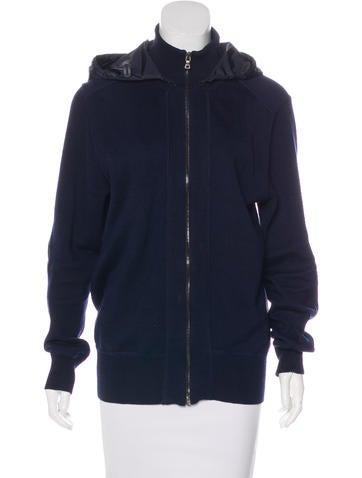 Prada Sport Hooded Turtleneck Sweater None