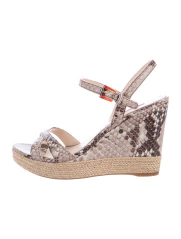 Prada Sport Espadrille Wedge Sandals None