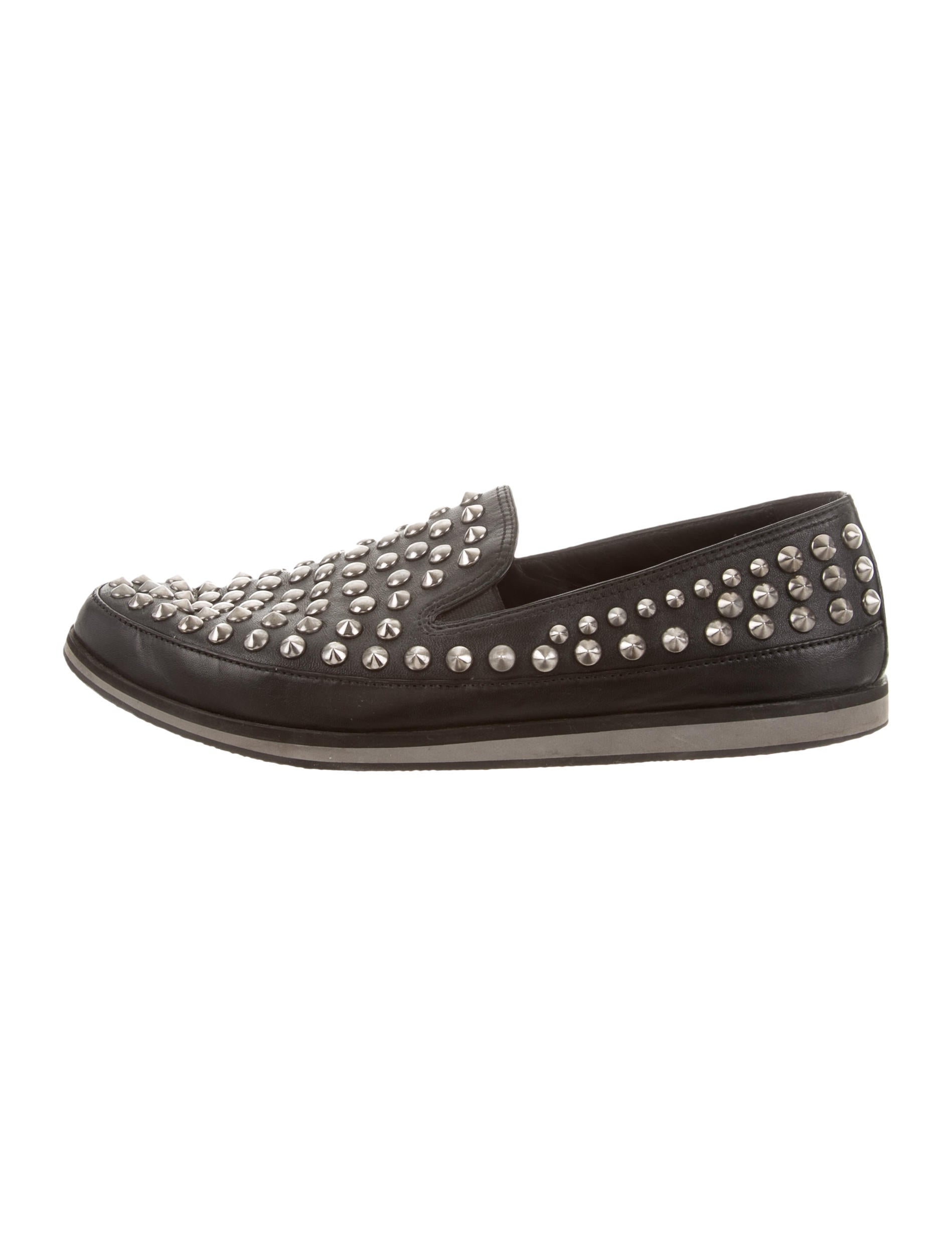 Prada Sport Spike-Embellished Slip-On Sneakers buy cheap release dates free shipping latest collections free shipping genuine o9vrX