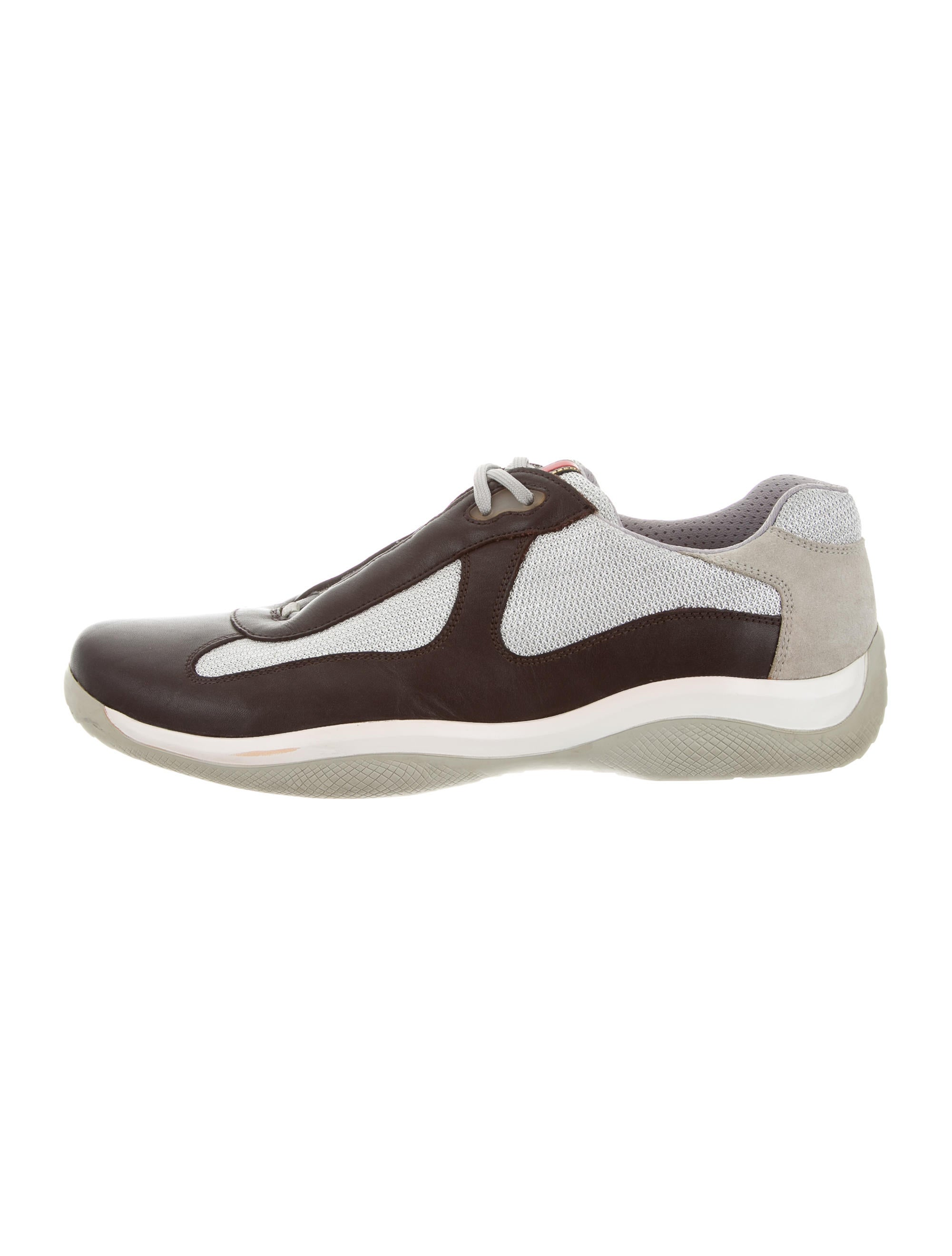 Prada Sport Round-Toe Low-Top Sneakers recommend sale online 100% authentic sale online rFU3BjLz