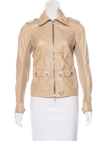 Prada Sport Knit-Trimmed Leather Jacket None