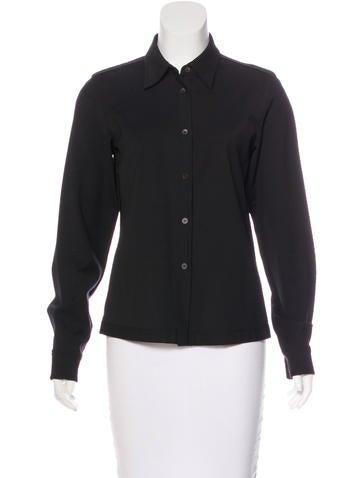 Prada Sport Long Sleeve Button-Up Top None