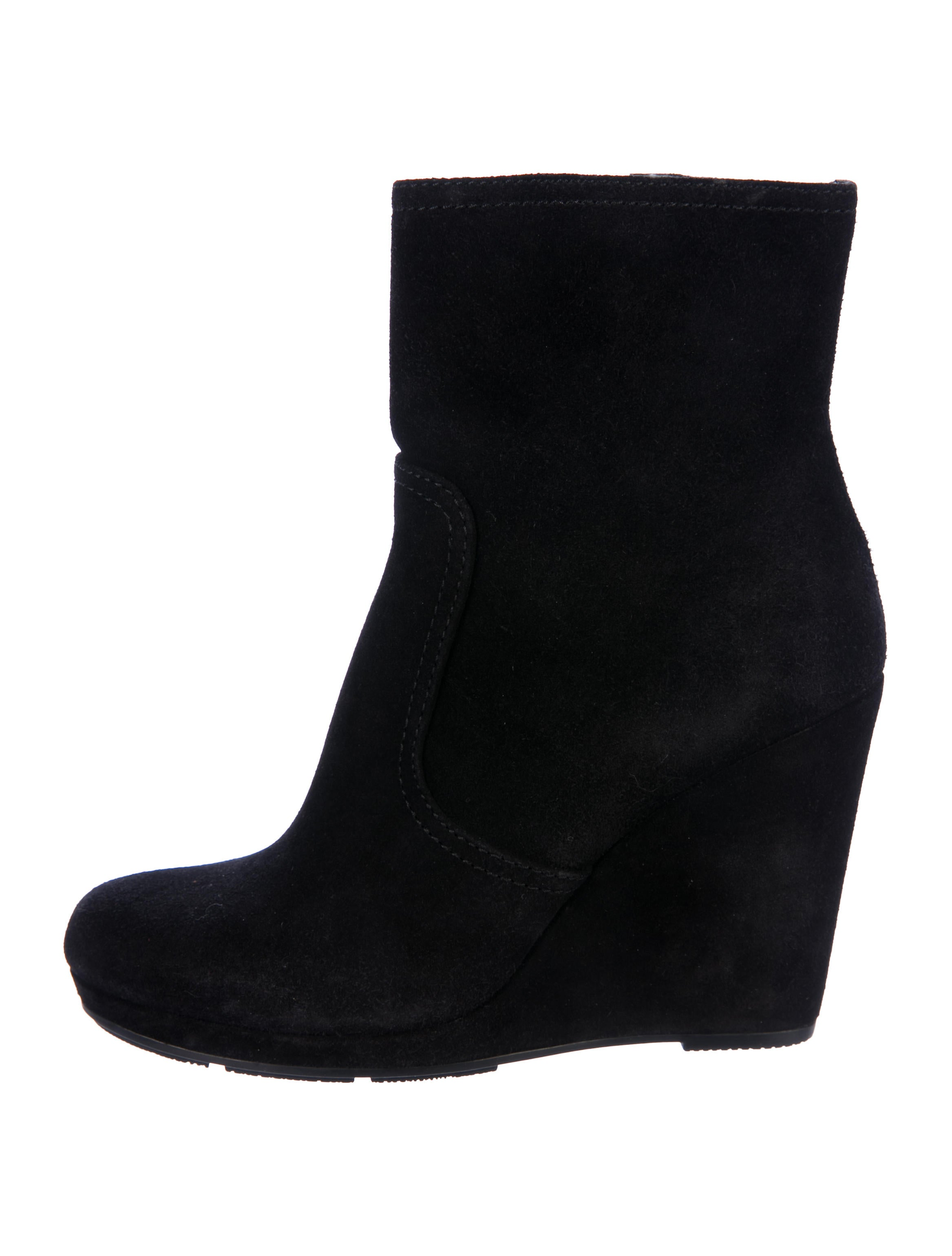 Prada Sport Suede Wedge Ankle Boots quality free shipping outlet outlet genuine PkjdFunf