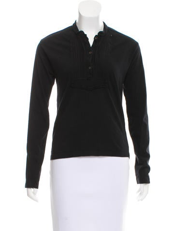 Prada Sport V-Neck Long Sleeve Top None