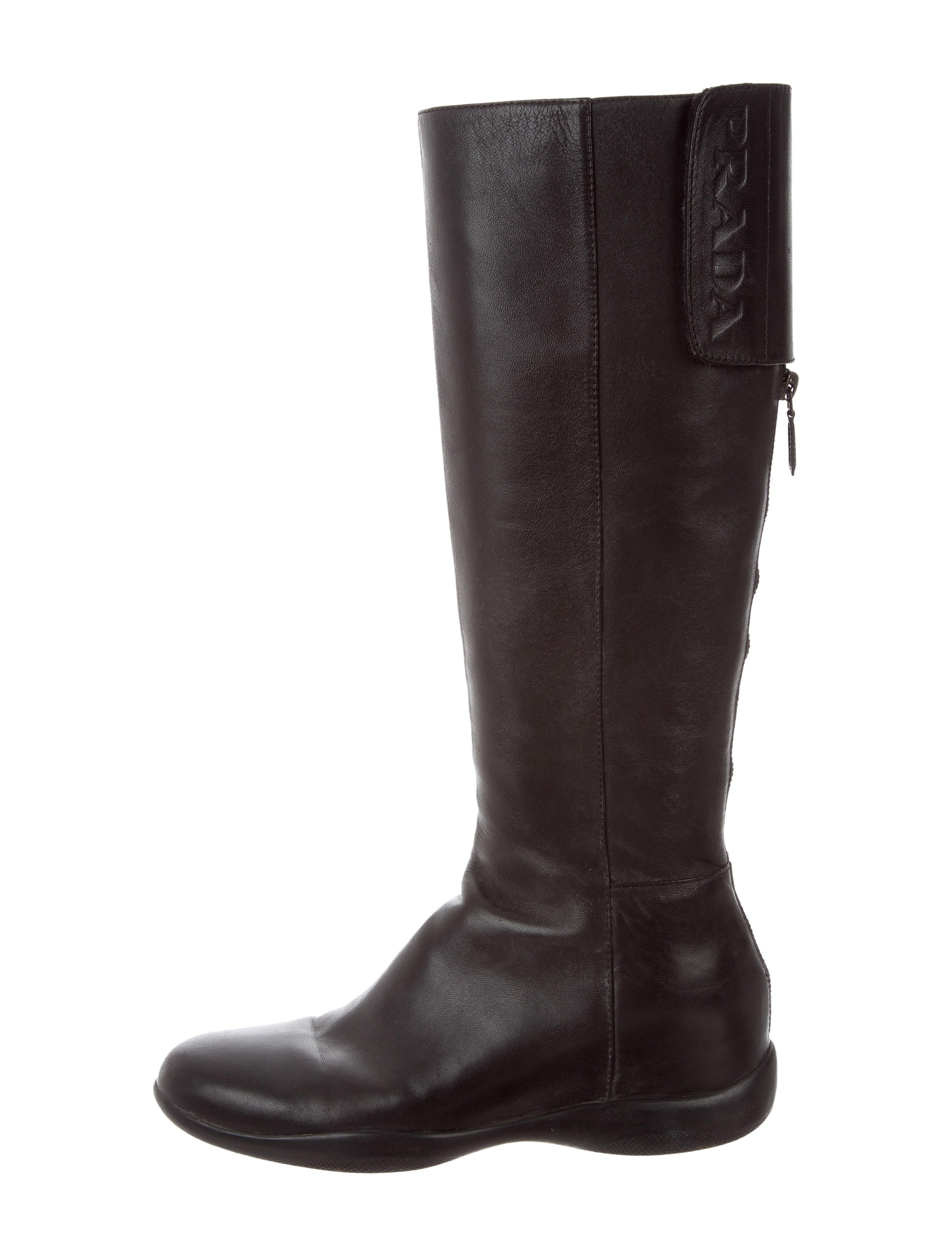 Prada Sport Leather Knee Boots clearance finishline mH8h34x