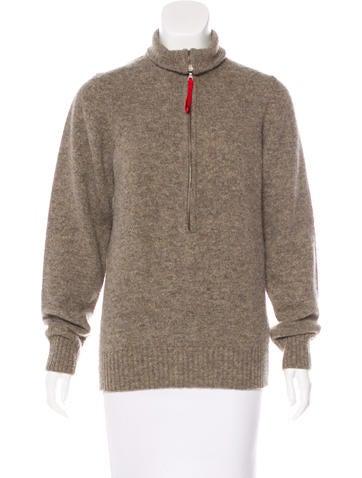 Prada Sport Wool Zip-Up Sweater None