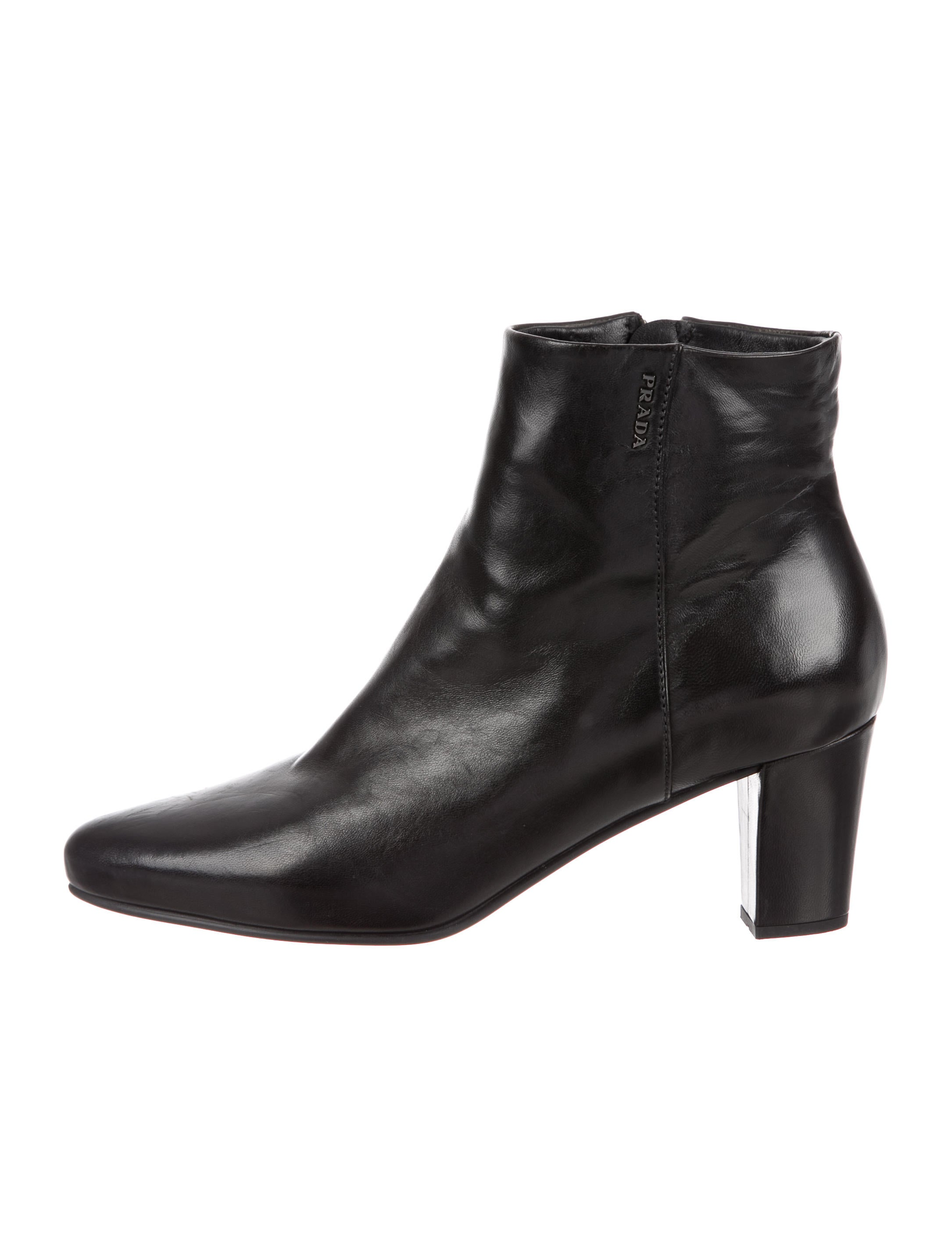 Prada Sport Leather Pointed-Toe Ankle Boots outlet pre order perfect sale online cheap low shipping buy cheap fast delivery the cheapest sale online Zcmt7YE
